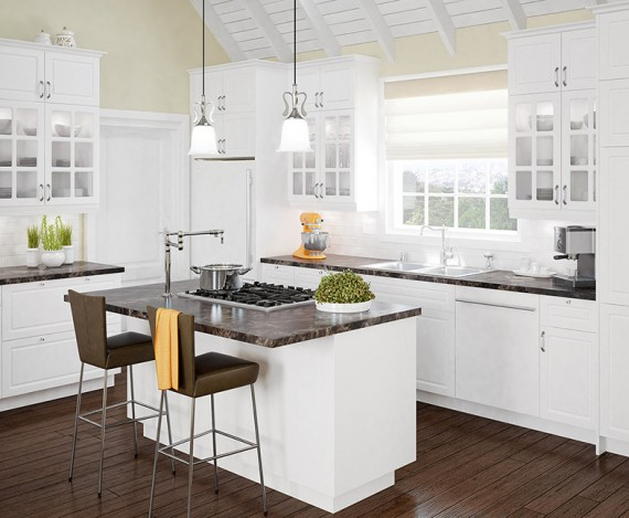 Inspiration eurostyle for Armoire cuisine home depot